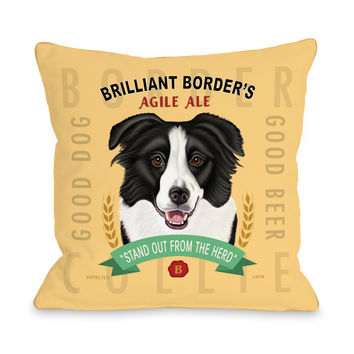 Agile Ale 3 Corn Red Multi Throw Pillow by Retro Pets