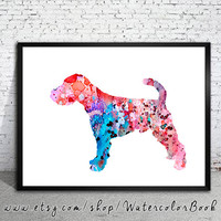 Welsh Terrier Watercolor Print, Children's Wall, Art Home Decor, dog watercolor, watercolor painting, Terrier art, animal watercolor
