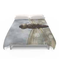 Society6 Dragonfly In The Mist... Duvet Cover