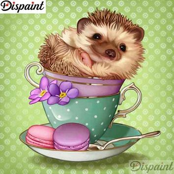 5D Diamond Painting Teacup Porcupine Kit