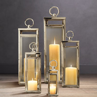 Santorini Square Lanterns Polished Nickel