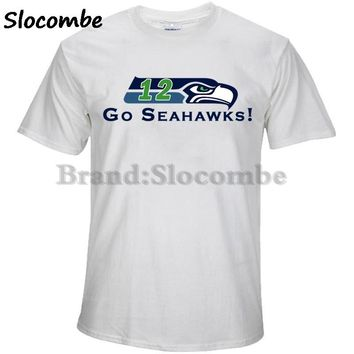 New Designs Seattle 12TH Man T shirt Seahawks Defense Fans Logo Picture Printing Style High Quality Men's T-Shirts