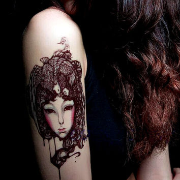 1pc Phoenix Girl  temporary  tattoo*** fake tattoo body art large tattoo big tattoo Chinese Style Tattoo