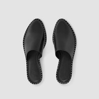 ALLSAINTS US: Womens Rick Slip On Sandal (Black)