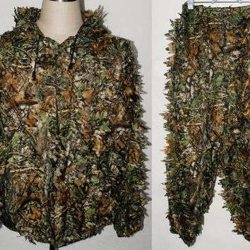 REALTREE CAMO  LEAF NET GHILLIE SUIT JACKET AND TROUSERS -32249