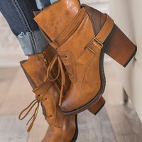 Gone Rogue Booties (New Tan)
