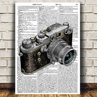 Camera poster Antique print Vintage print Retro decor RTA1023