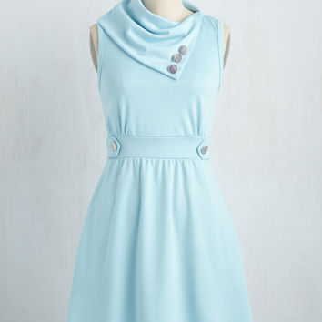 Coach Tour Dress in Sky | Mod Retro Vintage Dresses | ModCloth.com