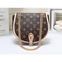 LV Fashion Hot Selling Single Shoulder Bag with Circular Colour Matching Printing