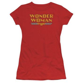 DCCKM83 Wonder Woman Logo Short Sleeve Junior Sheer