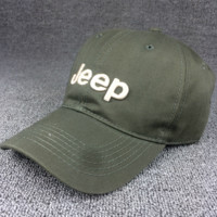 Army Green Color Jeep Embroidered Baseball Cap Hat Elephant Ring