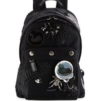 Rummage Embellished Backpack, Black