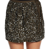 Sequined Wrap Skirt
