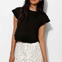 BLQ BASIQ Raw-Edge Cropped Top-