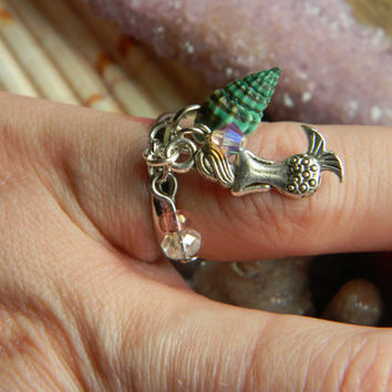 Jewel Of The Sea Mermaid Ring