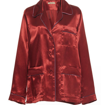 Satin Button Down Top | Moda Operandi