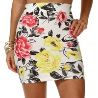Sale-floral Mini Skirt