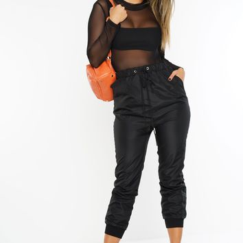 Side To Side Joggers - Black