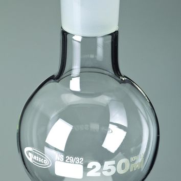 Boiling Flasks, Round Bottom, Ground Glass Joints, Borosilicate Glass