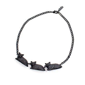 Classic Candy Black Cat Parade Necklace