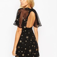 ASOS Star Glitter Mini Dress