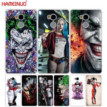 HAMEINUO suicide squad Joker harley quinn Margot Robbie  Cover phone  Case for Xiaomi redmi 4 1 1s 2 3 3s  pro redmi note 4