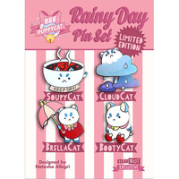 Limited Edition Bee and PuppyCat Rainy Day Pin Set