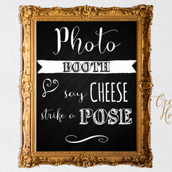 Photo booth sign art print, printable wedding photobooth sign, photo booth signage, photobooth prop, photo,selfie booth INSTANT DOWNLOAD