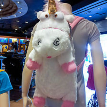 "Despicable Me Unicorn Plush Backpack ""IT'S SO FLUFFY!!!"" Agnes 26"" XLarge NEW"