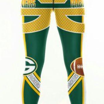 Green Bay Packers Womens 2X Leggings XXL #12 Aaron Rodgers Football Running Yoga