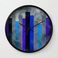 Fog In The City Wall Clock by Kathleen Sartoris