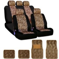 New and Unique YupbizAuto brand Safari Cheetah Print Universal Size Car Truck SUV Seat Covers and Floor Mats Set High Quality Velour and Mesh Material Gift Set Smart Pocket Feature : Amazon.com : Automotive