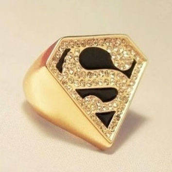Superman Trigonometry Rhinestone Ring = 1645872580
