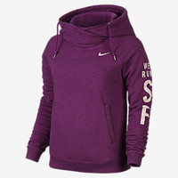 The Nike Rally Funnel Neck Pullover (Women's Half Marathon) Women's Hoodie.