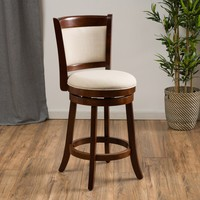 Davis Fabric Swivel Backed Counter Stool