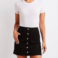 Button Up Mini Skirt | Charlotte Russe