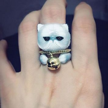 Women Mad Cat Fashion RIng