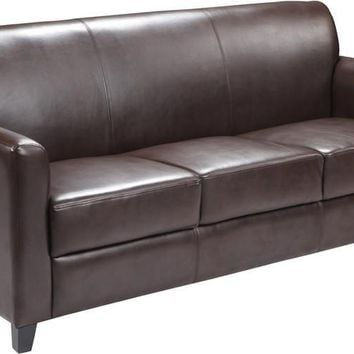 Diplomat Series Brown Leather Sofa