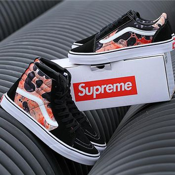 "Vans x Supreme ""Blood and Semen"" Running Shoes 36-44"
