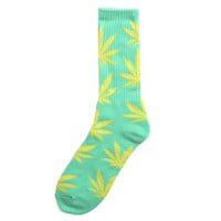 Plantlife Crew Socks Seafoam / Yellow