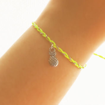Pineapple Friendship Bracelet - Best Friend Bracelet - Best Friend Gift - Gift for Her - Charm Bracelet - Pineapple Bracelet