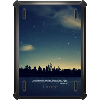DistinctInk™ OtterBox Defender Series Case for Apple iPad - Night Sky Lake Jeremiah 29:11