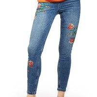 Topshop Jamie Embroidered Skinny Jeans | Nordstrom