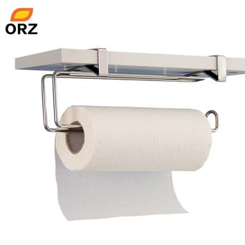 Tissue Holder Stainless Steel Kitchen Bathroom Toilet Towel Chrome Roll Paper Facial Napkins Rack Hanging Door Hook Holder