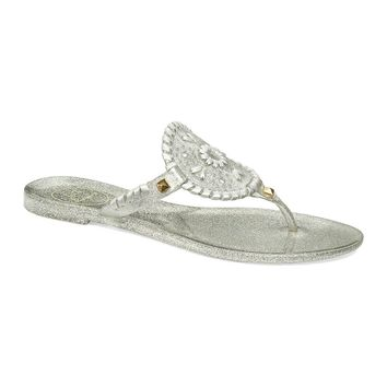 Sparkle Georgica Jelly Sandal in Silver by Jack Rogers