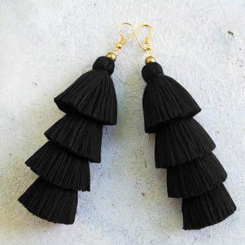 Solid Tassel Earrings