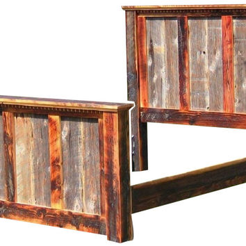 Rustic Red Fir & Reclaimed Wood King Bed Country Roads II Collection