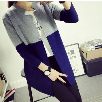 Button Geometric Cardigans For Women Zd28