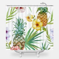 Pineapple Paradise Shower Curtain