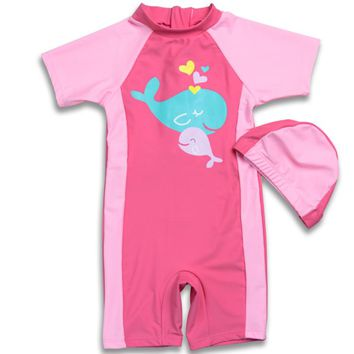 Lovely Kids Swimsuit Quality Baby Swimwear Teenagers One-pieces Dolphin Design Infant Bath Suit Children Beachwear 1-10Years
